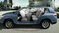2013 Toyota Highlander, Front and back seat., manufacturer, exterior, interior