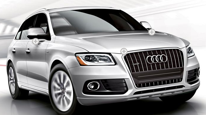 2013 Audi Q5 Hybrid, Front quarter view., exterior, manufacturer
