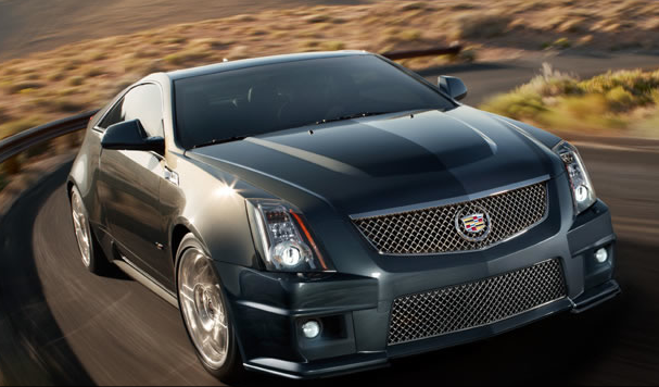 2013 Cadillac CTS-V Coupe, Front quarter view., exterior, manufacturer