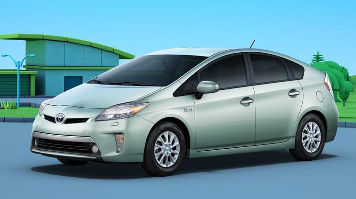 2012 Toyota Prius Plug-in, Front quarter view., exterior, manufacturer
