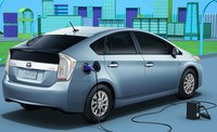 2012 Toyota Prius Plug-in, Back quarter view., exterior, manufacturer