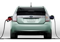 2012 Toyota Prius Plug-in, Back View., exterior, manufacturer