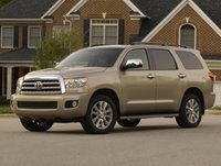 2013 Toyota Sequoia, Front quarter view copyright AOL Autos., exterior, manufacturer