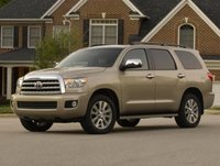 2013 Toyota Sequoia, Front quarter view copyright AOL Autos., manufacturer, exterior