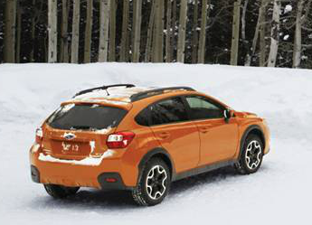 2013 Subaru XV Crosstrek, Back quarter view., exterior, manufacturer