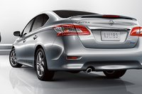 2013 Nissan Sentra, Back quarter view., exterior, manufacturer, gallery_worthy