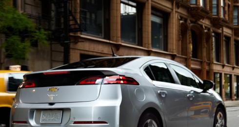 2013 Chevrolet Volt, Back quarter view., exterior, manufacturer