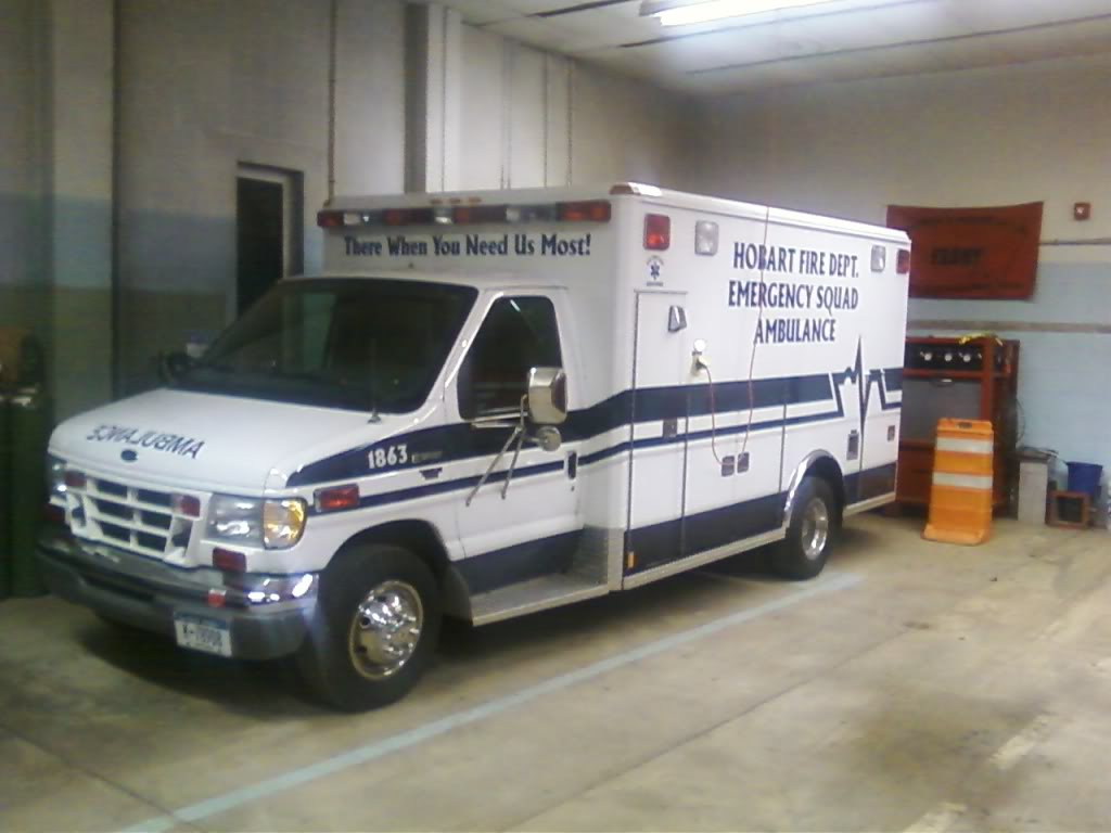 1 of the 2 identical ambulances we have