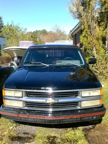 1992 Chevrolet C/K 1500 Scottsdale Extended Cab Stepside SB, 1992 Chevrolet 1500 Reg cab W/T 8 ft bed 2 WD for sale, exterior