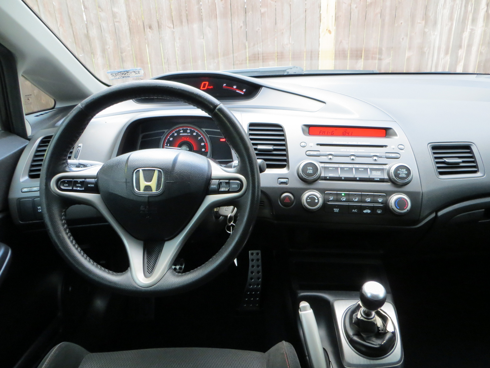 picture of 2007 honda civic 4 dr si interior. Black Bedroom Furniture Sets. Home Design Ideas