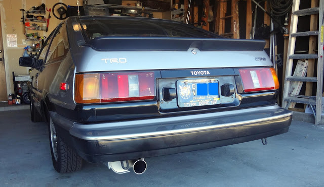 1985 Toyota Corolla GTS Hatchback, Rear Driver's Side View, exterior, gallery_worthy
