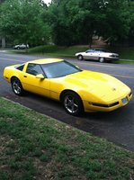 1994 Chevrolet Corvette Coupe, 94 Yellow, exterior