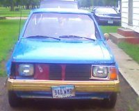 1988 Dodge Omni, custom paint n shes missing her grill n her headlight shard, exterior