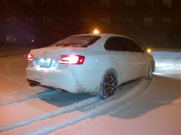 2013 Volkswagen Jetta GLI Autobahn w/ Nav, Victoriously Passed Through a Snow Storm., exterior, gallery_worthy
