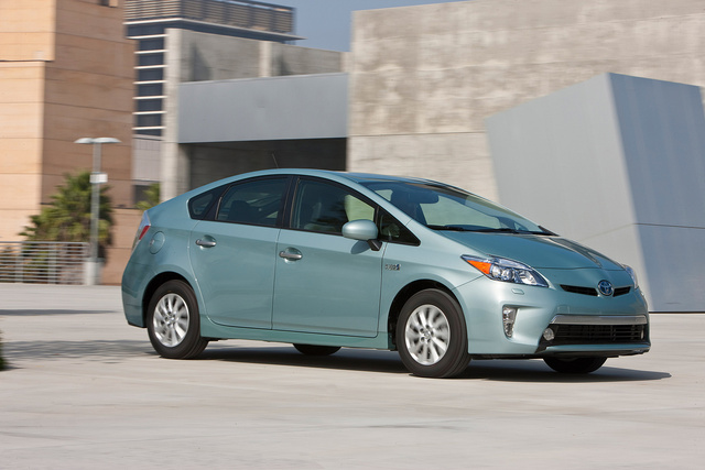 2013 Toyota Prius Plug-in, Front-quarter view, exterior, manufacturer, gallery_worthy