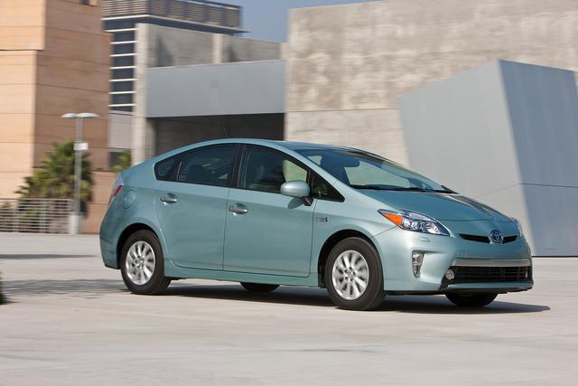 2013 Toyota Prius Plug-in, Front-quarter view, exterior, manufacturer