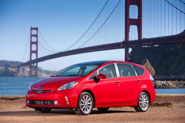 2013 Toyota Prius v, Front-quarter view, exterior, manufacturer, gallery_worthy