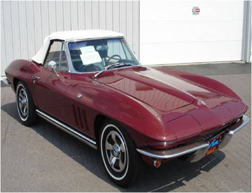 1965 Chevrolet Corvette Convertible Roadster, 1965 Chevrolet Corvette Convertible. Similar to the car I owned with the top up., exterior