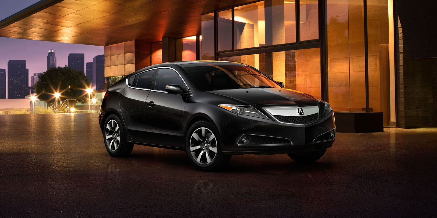 2013 Acura ZDX, right front quarter view, manufacturer, exterior