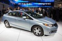 2013 Honda Civic, Front-quarter view from the LA Auto Show, exterior, manufacturer