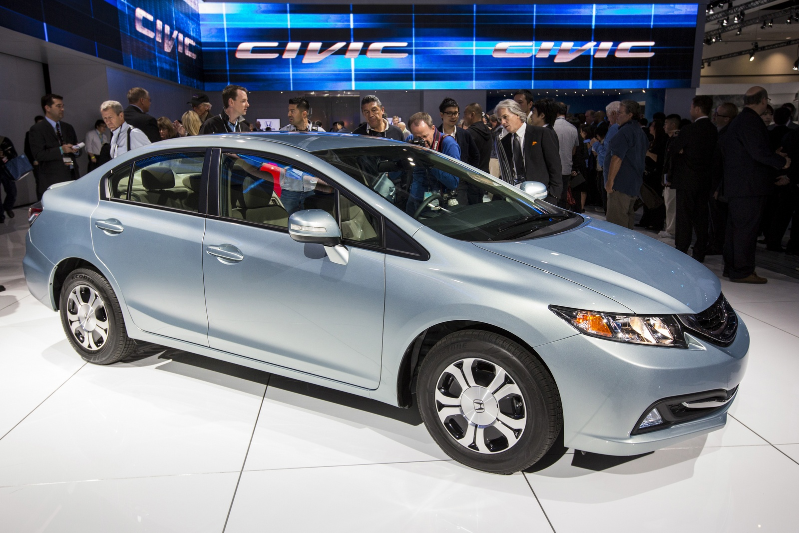 2013 Honda Civic, Front-quarter view from the LA Auto Show, manufacturer, exterior