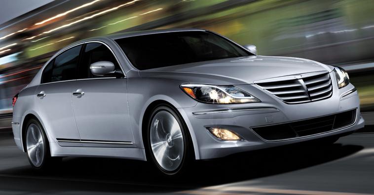 2013 Hyundai Genesis, Front quarter view., exterior, manufacturer