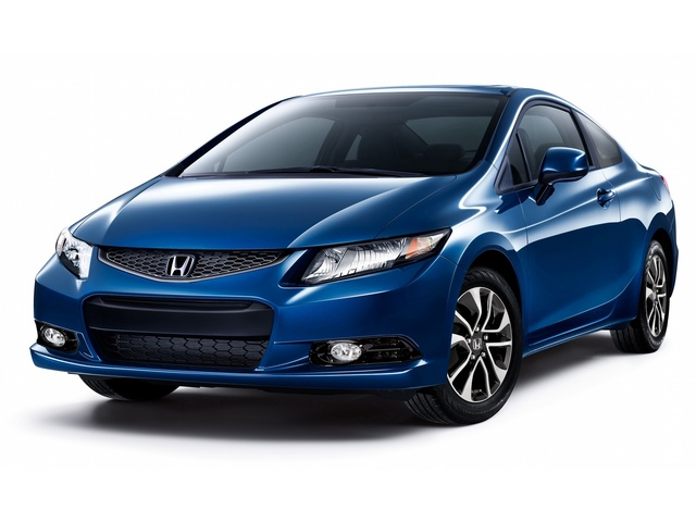 2013 Honda Civic Coupe, Front-quarter view, exterior, manufacturer, gallery_worthy