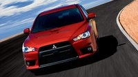 2013 Mitsubishi Lancer Evolution, Front View., manufacturer, exterior