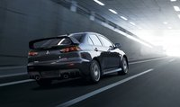 2013 Mitsubishi Lancer Evolution, Back quarter view, exterior, manufacturer