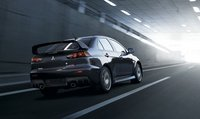 2013 Mitsubishi Lancer Evolution, Back quarter view, manufacturer, exterior