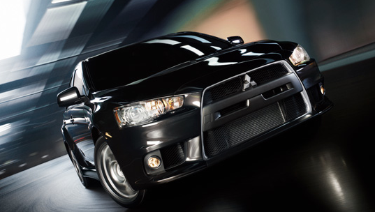 2013 Mitsubishi Lancer Evolution, Front View., exterior, manufacturer