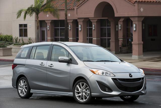 2013 Mazda MAZDA5, Front-quarter view, exterior, manufacturer