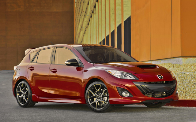 2013 Mazda MAZDASPEED3, Front-quarter view, exterior, manufacturer, gallery_worthy