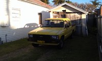 1984 Toyota Hilux, old ute old shed old house, exterior