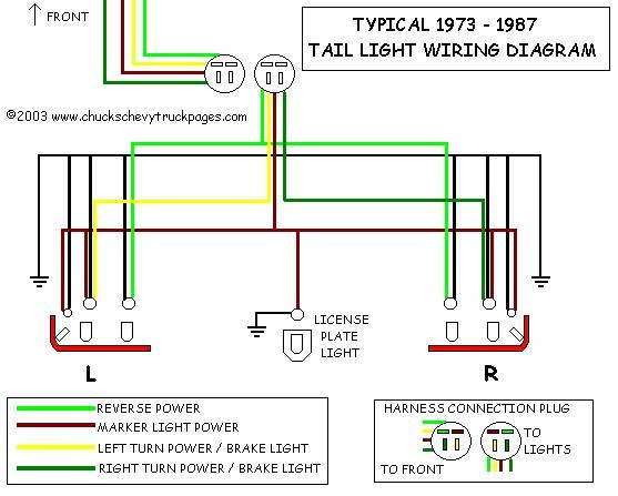 Chevrolet Ck 3500 Questions Repair Backup Lights Wiring In 1998 Rhcargurus: Tailight Wiring Diagram 1984 Camaro At Gmaili.net