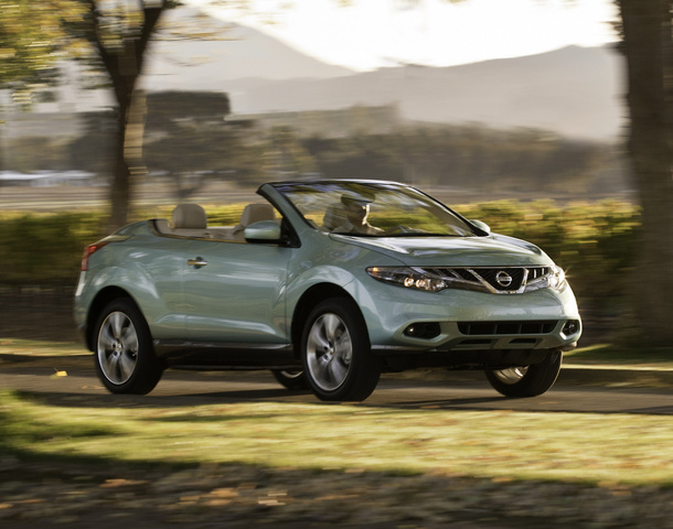 2013 Nissan Murano CrossCabriolet, Front-quarter view of the 2012 (no new photos for 2013), exterior, manufacturer
