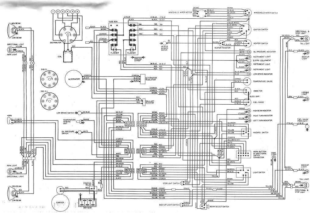 1984 dodge wiring diagram