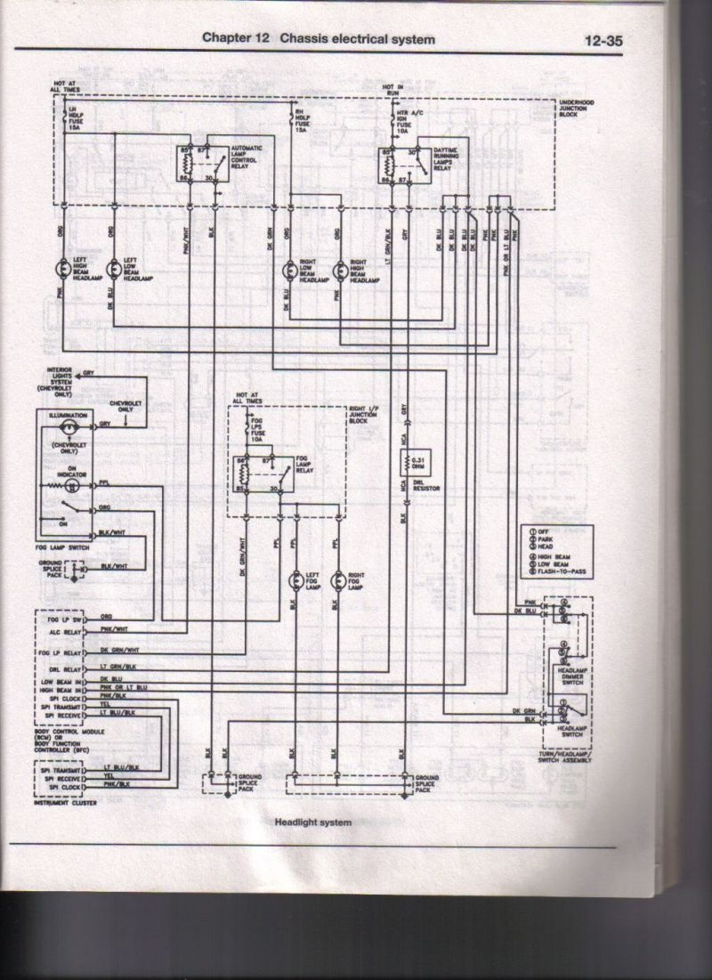 Gm Ignition Switch Wiring Diagram Highbeam Libraries Headlight Chevrolet Cavalier Questions 04 Chev Low Bean Lights Ok