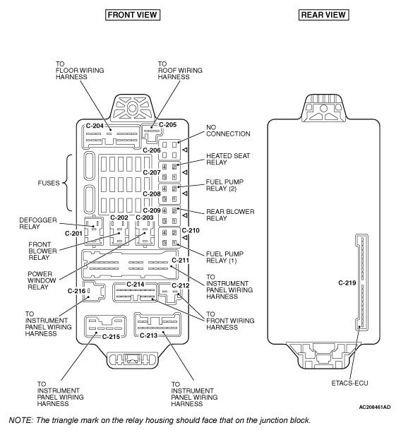 2010 mitsubishi outlander fuse box diagram