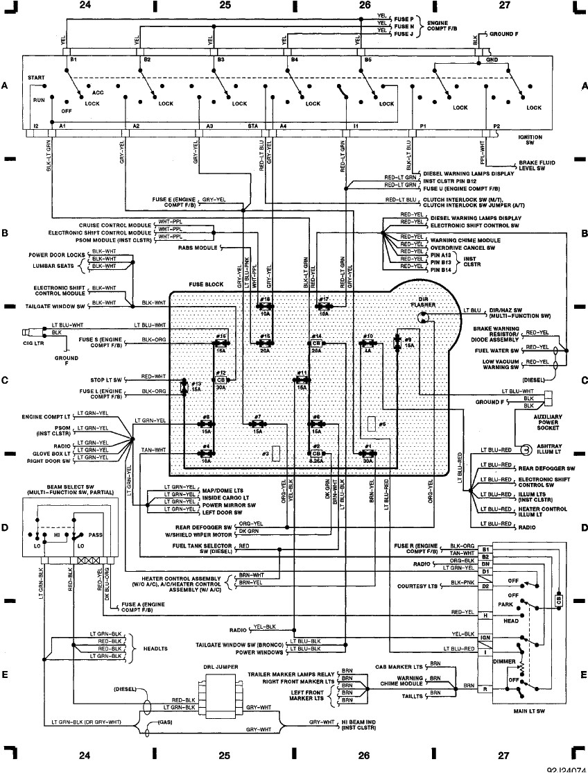power window wiring diagram for 2000 f350