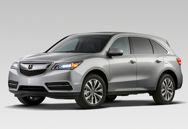 2014 Acura MDX, Front-quarter view, exterior, manufacturer
