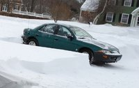 1999 Chevrolet Cavalier 4 Dr LS Sedan, Parked in the snow., exterior
