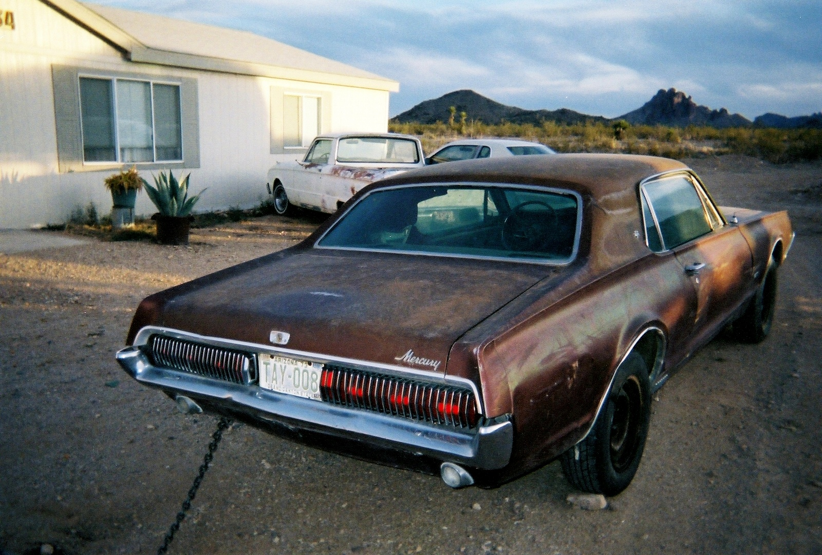 1967 Mercury Cougar, sitting in Az waiting to be picked up by the shipper, exterior