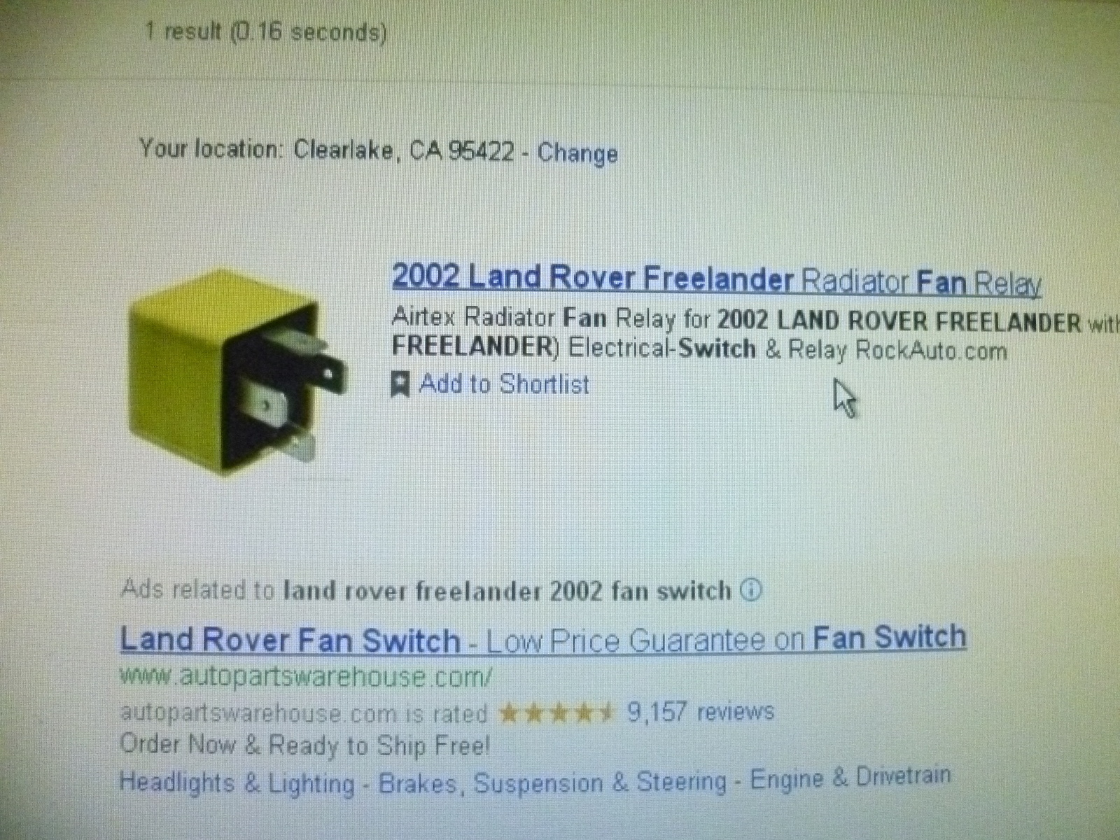 Land Rover Freelander Questions Why Is My Landrover Freelader 2002 Relay Switch For Radiator Fan 3 Answers