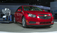 2014 Chevrolet Cruze, Front-quarter view. Copyright General Motors, manufacturer, exterior