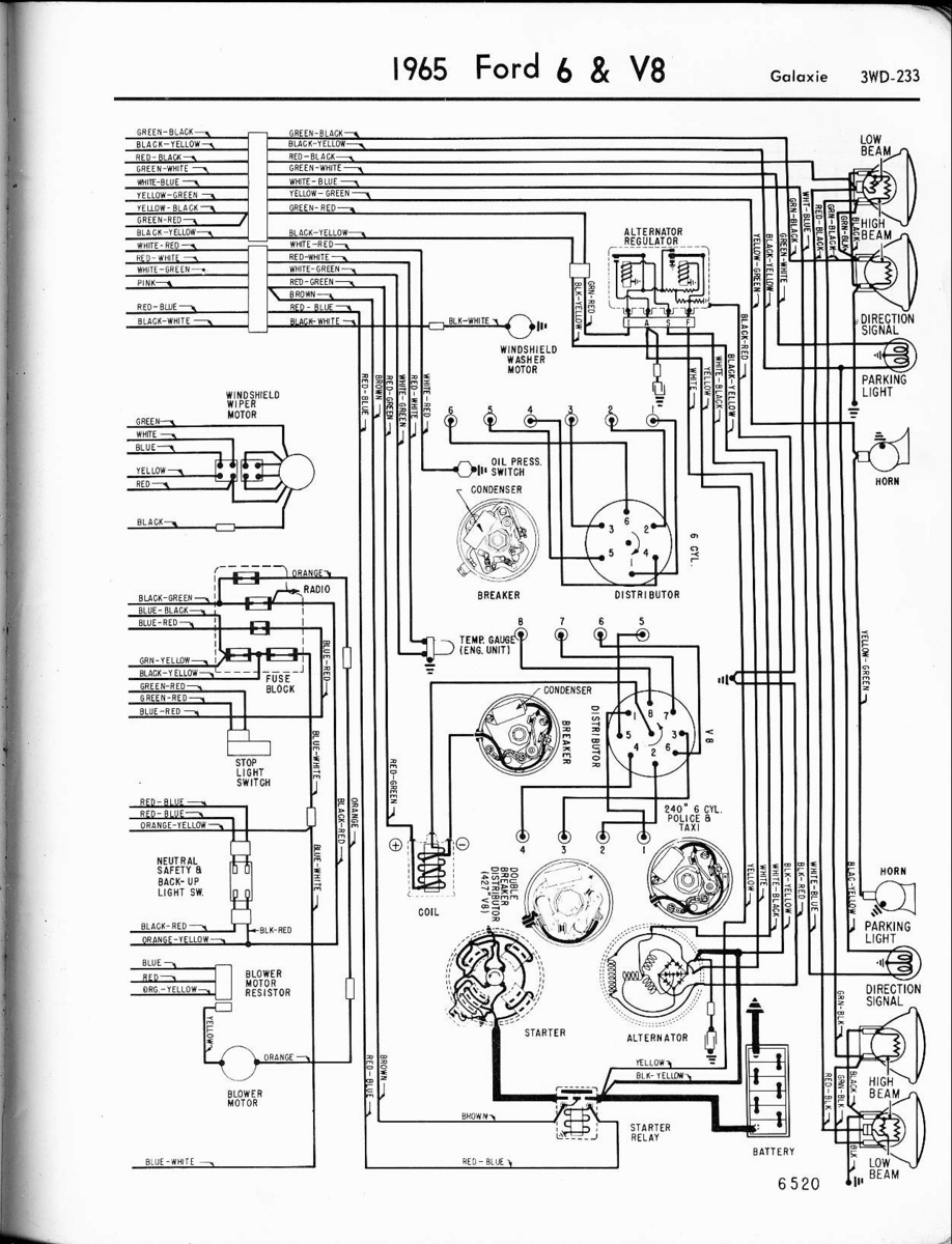 wiring diagram 1965 ford galaxie wiring schematic diagram 1969 Ford Custom 500 Wiring Diagram ford galaxie questions what wires go where on the altanator of a 1965 ford wiring schematic