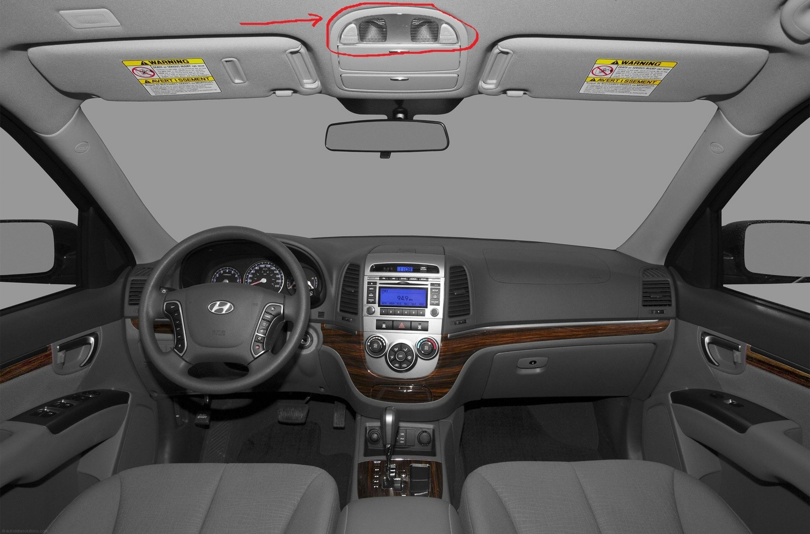 how do i turn on the interior lights to go on automatically for my hyundai  santa fe