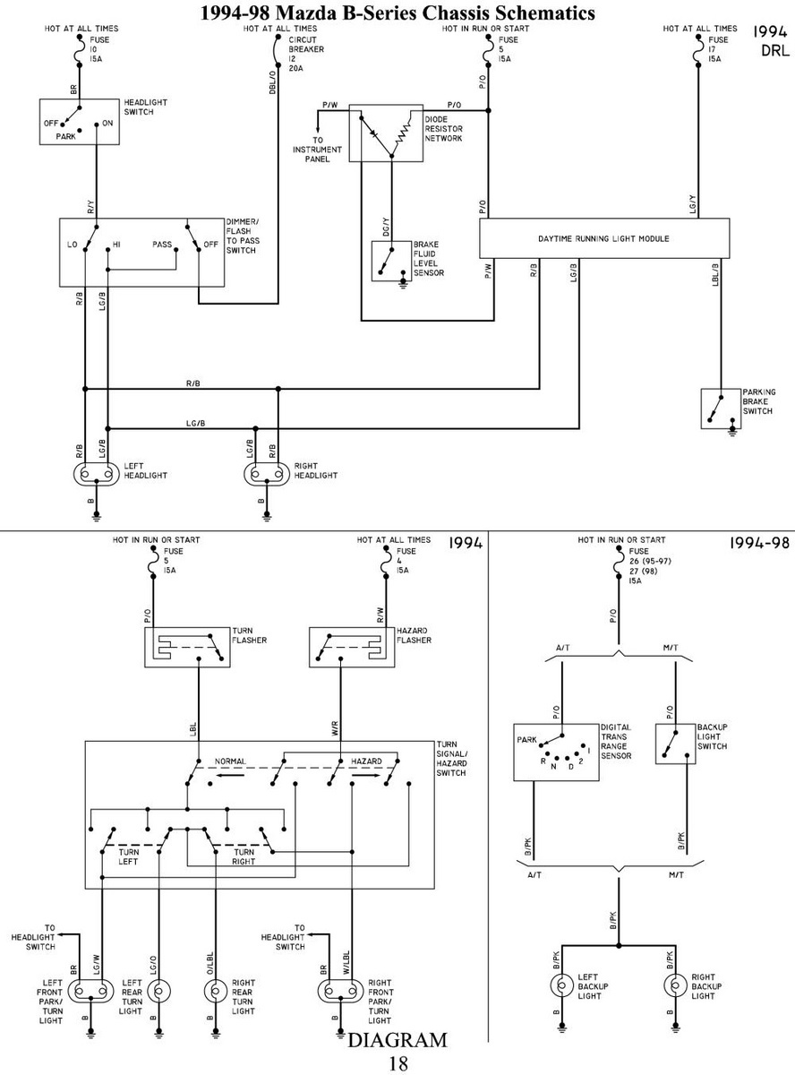 Mazda Bravo Fuse Box Wiring Diagrams 98 626 Diagram 1990 B2600 33 Miata Location 2006