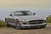 2013 Mercedes-Benz SLS-Class, Front-quarter view, exterior, manufacturer