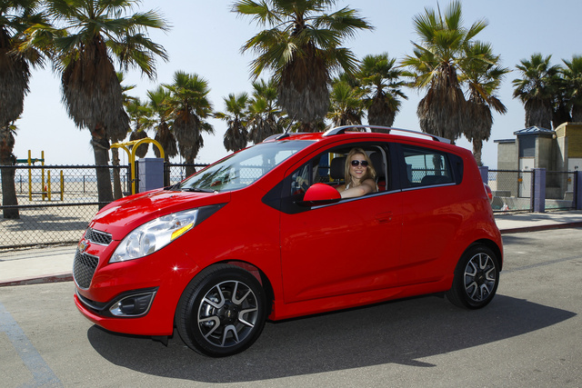 2014 Chevrolet Spark, Front-quarter view. Copyright General Motors, exterior, manufacturer